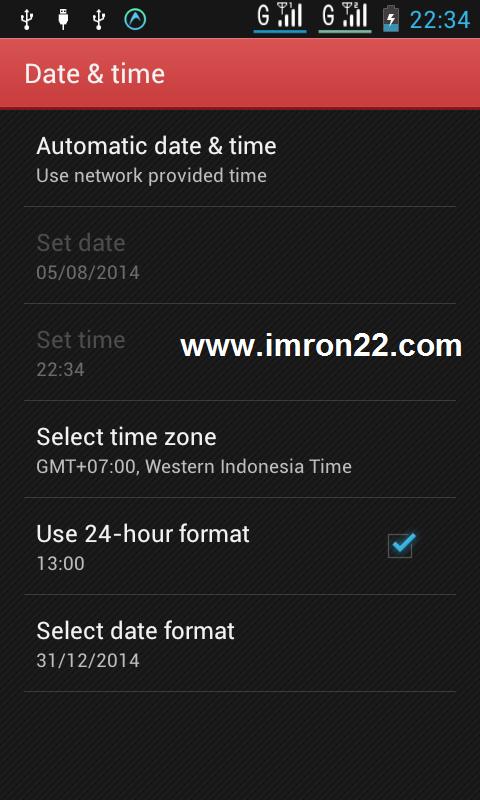 seting otomatis waktu dan tanggal, Automatic Date and Time