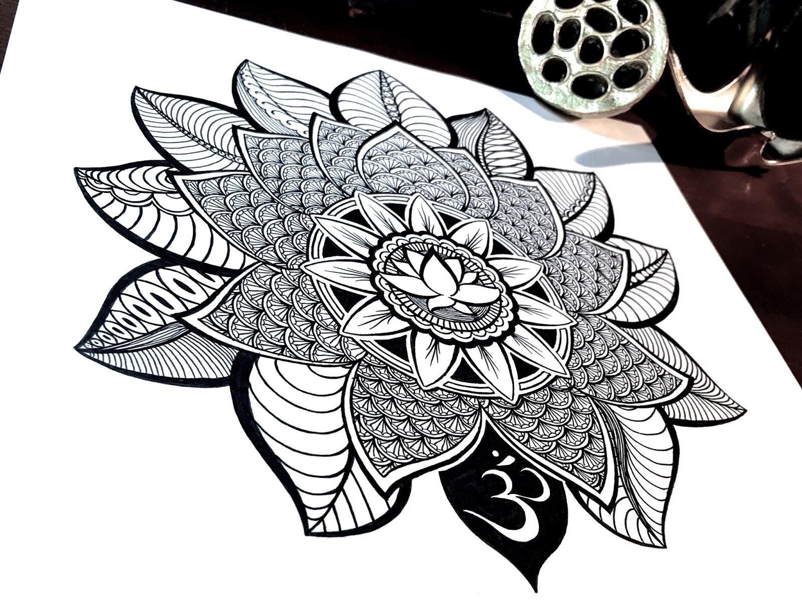 Line Art Flower Design : Time lapse drawing lotus flower mandala always choose the