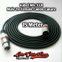 kabel mic XLR 15 meter male to Female Jack Canon Canare