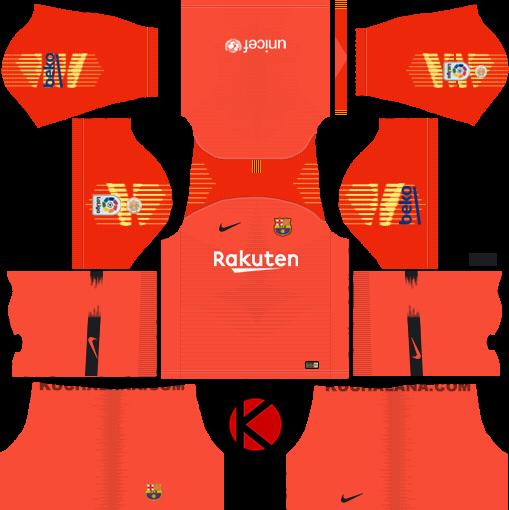 60303940e29 F C Barcelona 2018 19 Nike Kit Dream League Soccer Kits Kuchalana