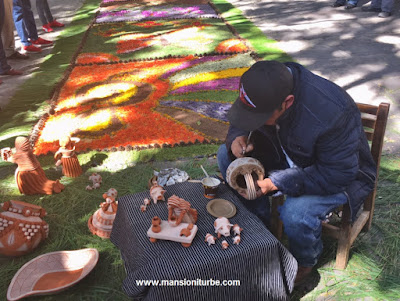 Mexican Artisan making pottery from Patamban, Michoacan