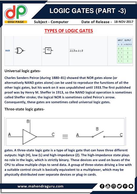 DP | IBPS SO Special : Logic Gates (Part 3) | 18 - 11 - 17