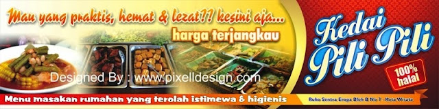 Contoh Banner Rumah Makan - Restaurant