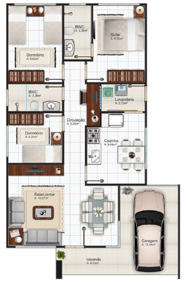 Plano de casa de 98 m2 planos de casas gratis y for Programa para planos de viviendas
