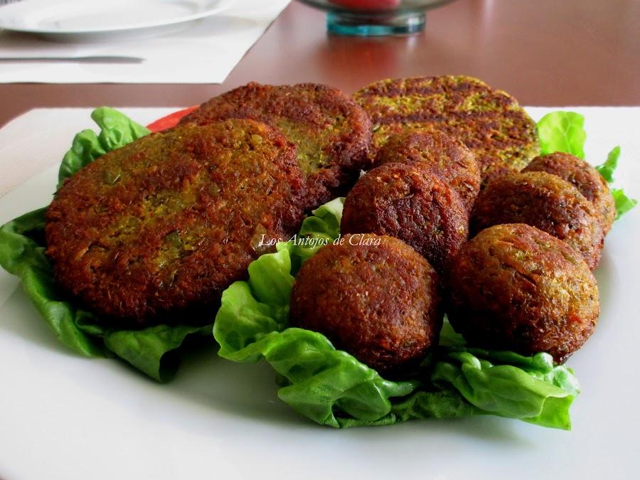 Hamburguesas y albóndigas veganas de lentejas