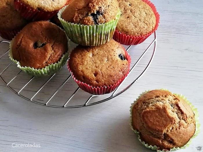 Muffins o magdalenas de moras