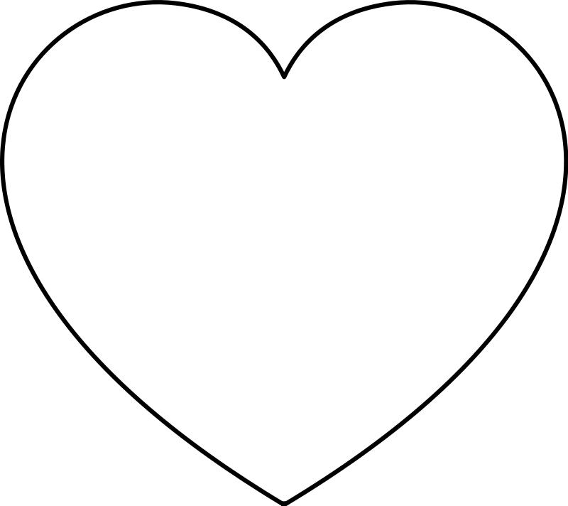 immagini cuore da colorare