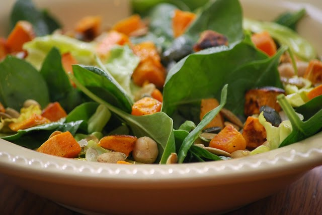 sweet potato and spinach support your health