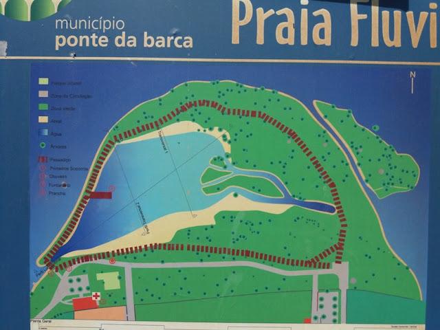 Placa Praia Fluvial de Ponte da barca