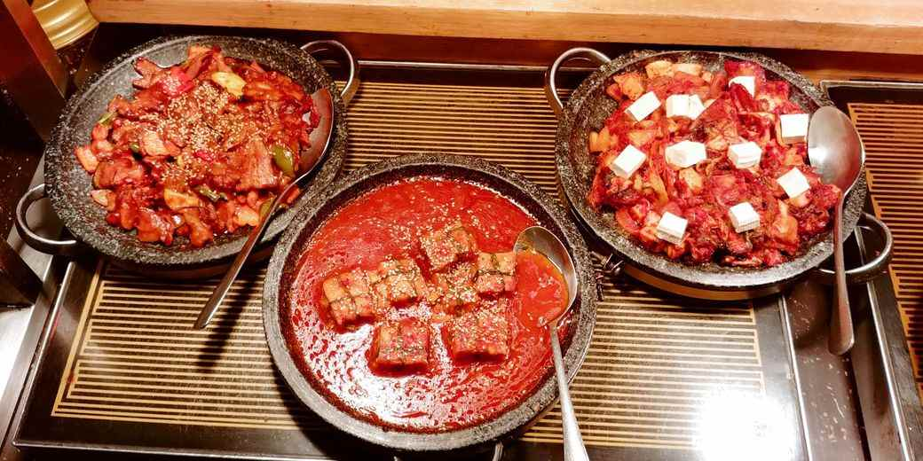 Sambo Kojin kimchi-based dishes