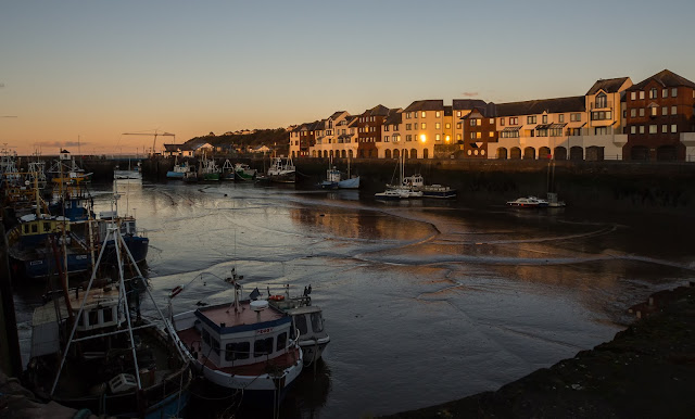 Photo of evening light on Maryport Harbour