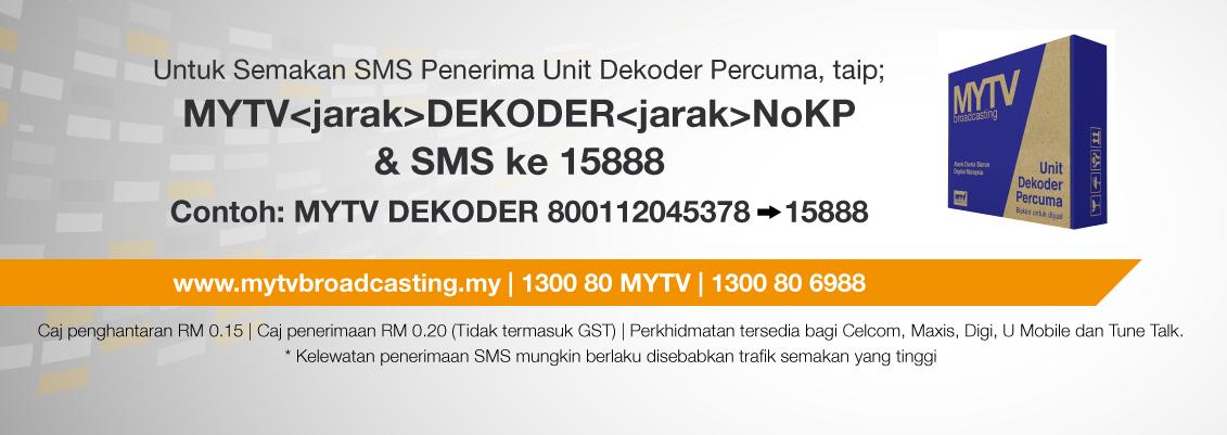 Set Dekoder Percuma Bantuan Sara Hidup Rakyat (BSHR) Sedang Diedarkan