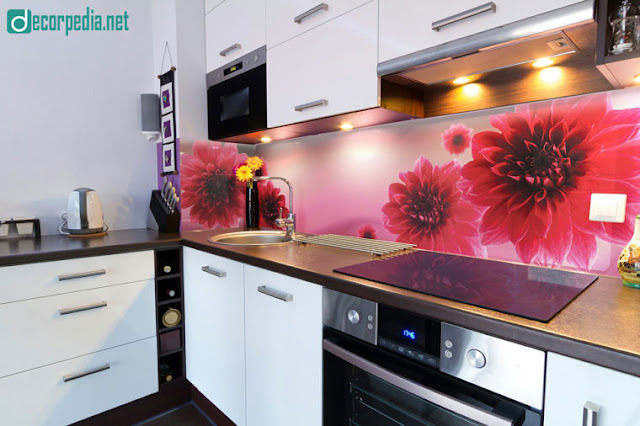 unique 3d glass backsplash panels for modern kitchen, 3d backsplash