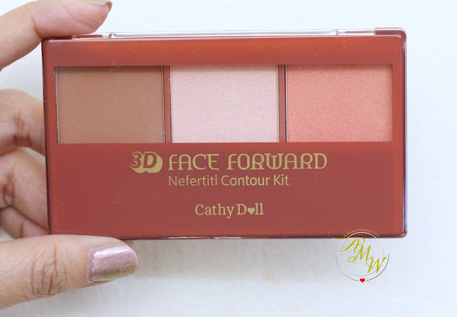 a photo of Cathy Doll 3D Face Forward Contour Kit Review in shades Nerfertiti Weapon, Cleopatra Secret and Sphinx Seduction