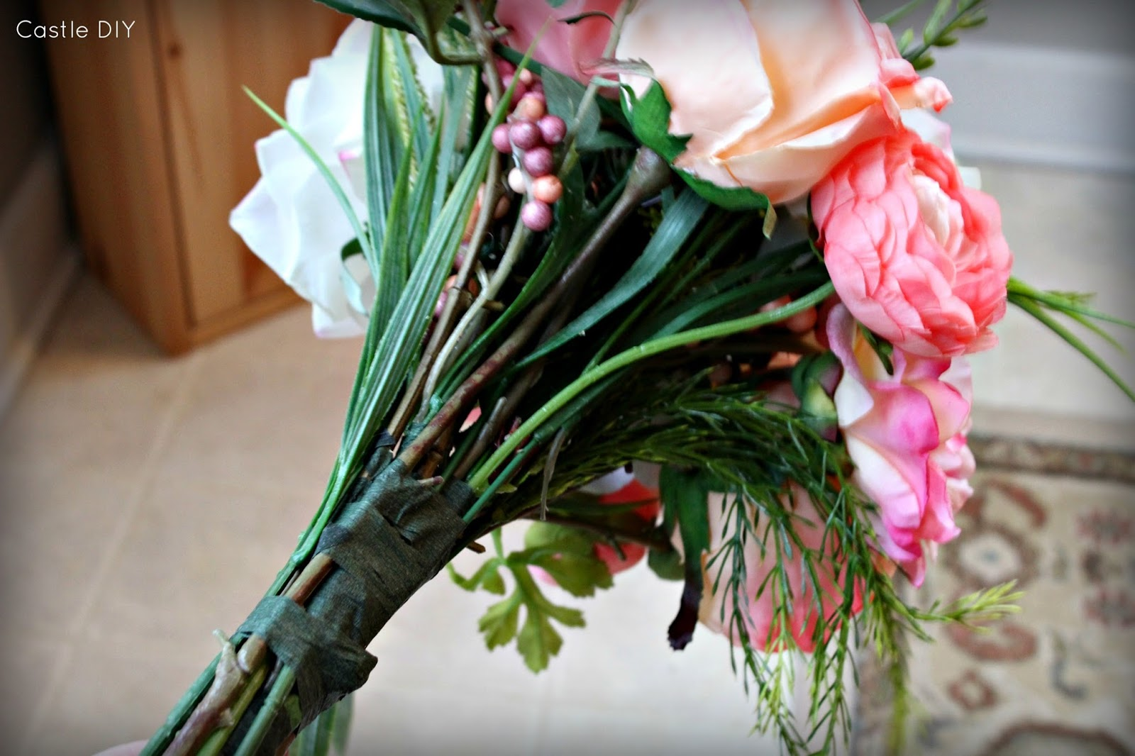 Castle DIY: Faux Flower Bouquet for the Cheap & Lazy Bride