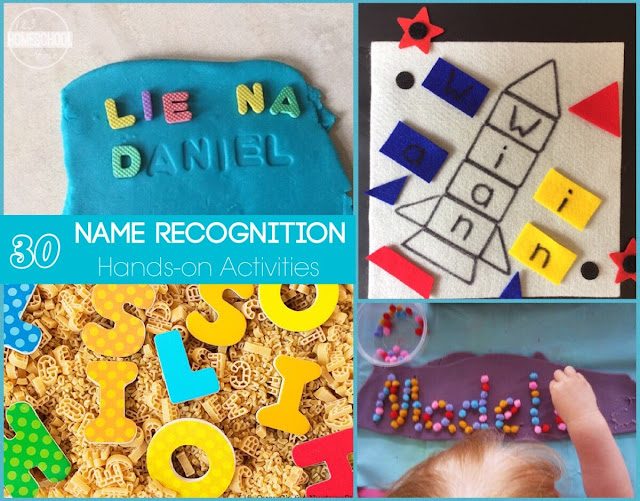 hands on alphabet letter and name recognition learning activities for early learners
