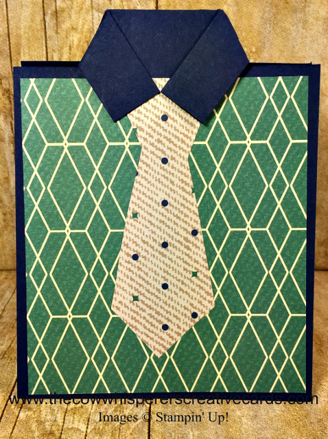 Card, True Gentleman Designer Series Paper, Masculine, Tie