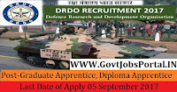 Defence Research and Development Organisation Recruitment 2017– 150 Graduate Apprentice Trainees, Diploma Apprentice Trainees