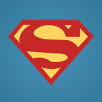 supermen flat icon
