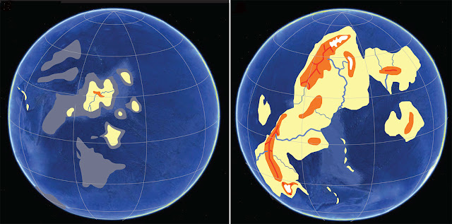 Land rising above the sea 2.4 billion years ago changed planet Earth