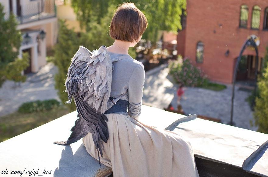 plecak ze skrzydlami