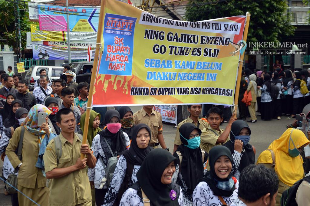Resmi Layangkan Somasi, GTT/PTT Minta Pemkab Kebumen Merespon Tuntutan Mereka