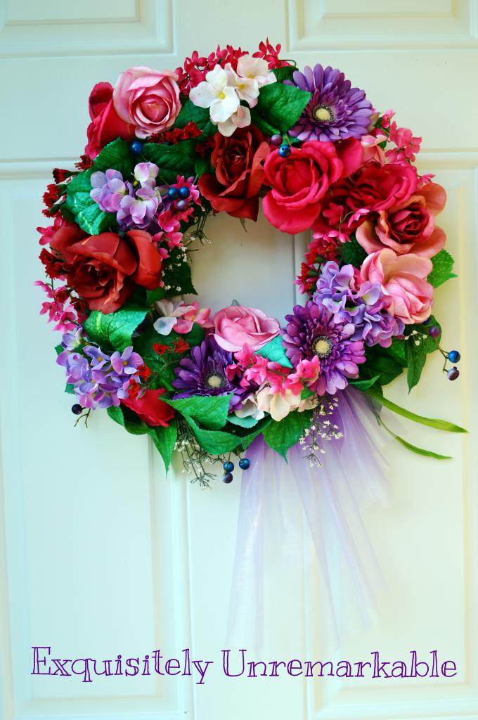 Colorful DIY Spring Wreath