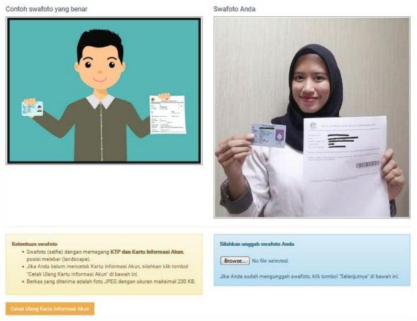 Cara Upload Swafoto Pendaftaran Akun CPNS