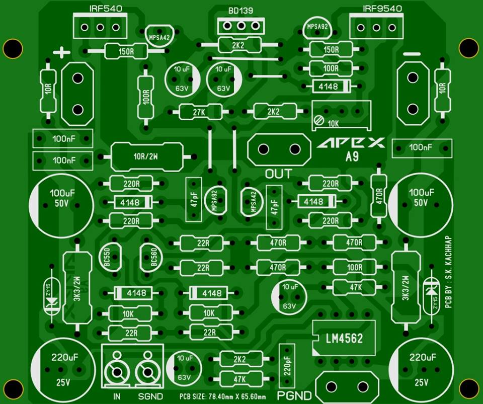 PCB Power Amplifier Apex A9
