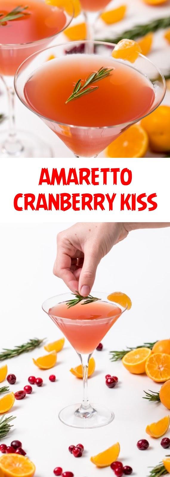 Amaretto-cranberry kiss