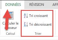 Excel en ligne - Données - Trier