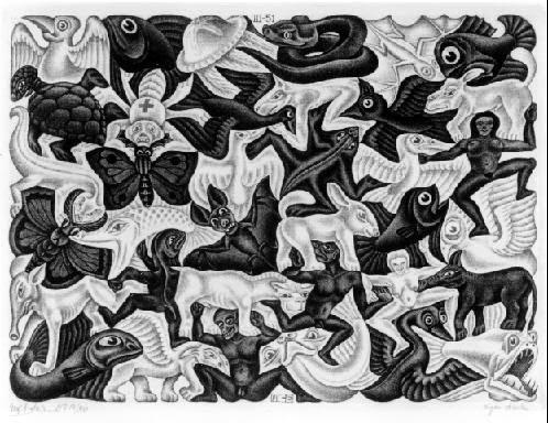 Plano de Enchimento l - Escher, M. C. e suas geniais litogravuras
