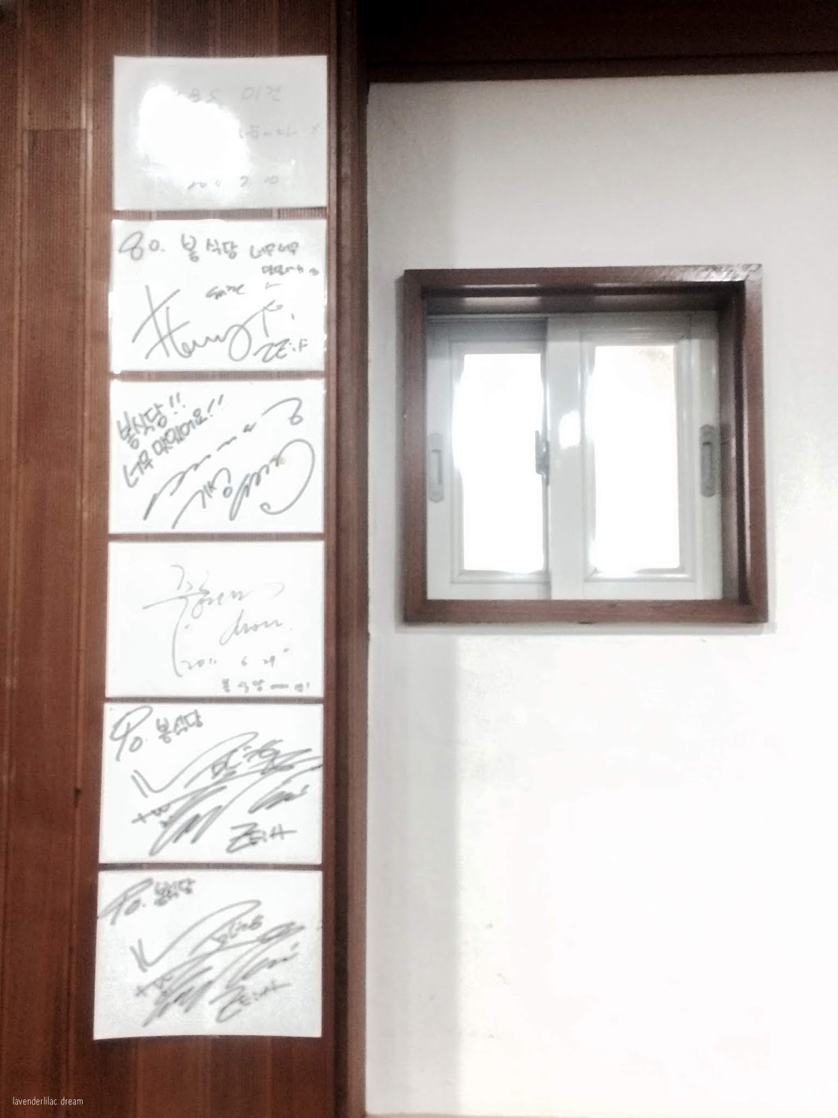 South Korea, Jeju Island, Yonsei University, YISS 2014, Samgyetang restaurant celebrity autographs