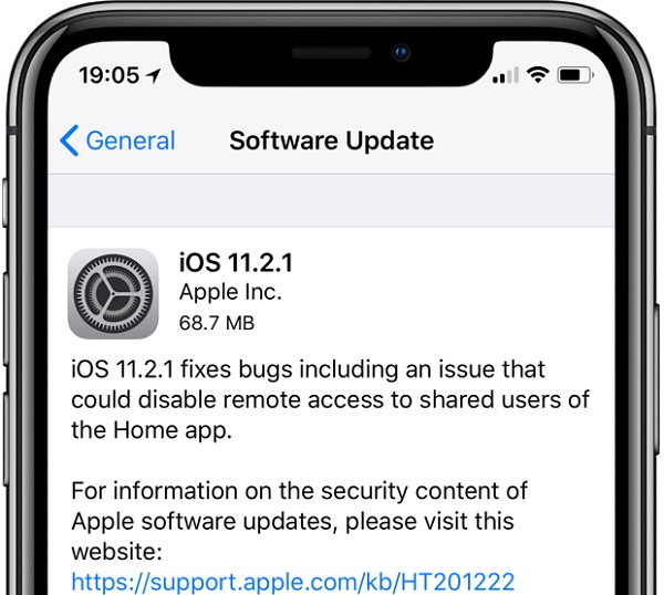 Apple iOS 11.2.1 Features Changelog