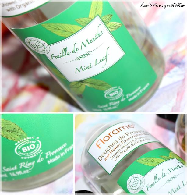 Gel douche Douches de Provence Feuille de Menthe bio Florame - Les Mousquetettes©