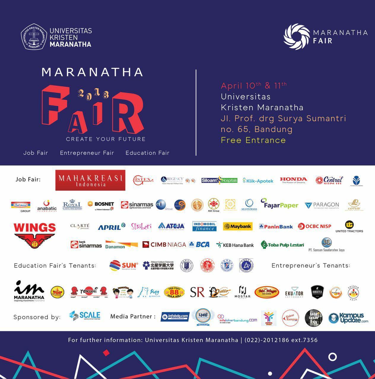 Maranatha Fair Bandung 10 & 11 April 2018