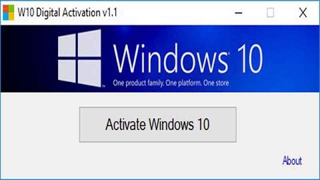 W10 Digital Activation Program v1.3.7 - Kích hoạt bản quyền cho windows 10