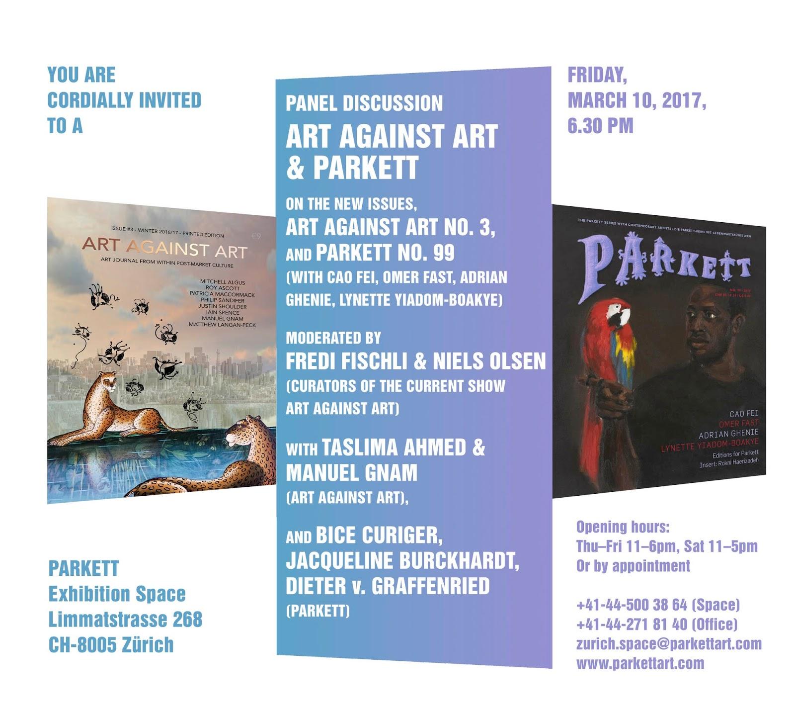 Art Against Art at Parkett