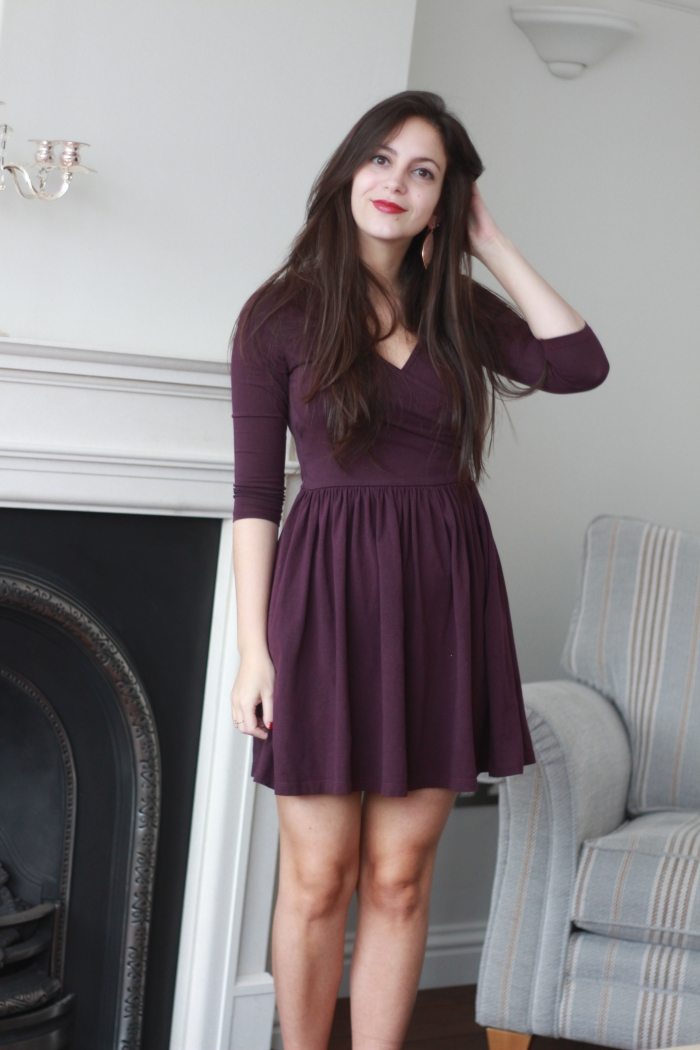 nev krstic asos purple dress