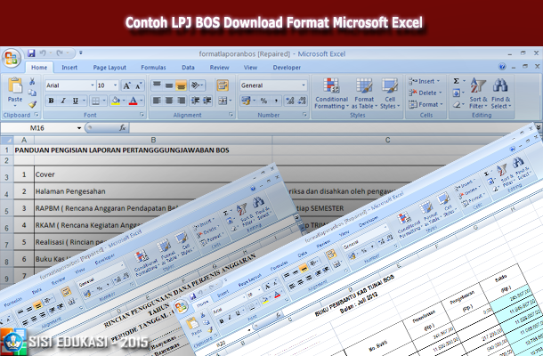 Contoh Lpj Bos Download Format Microsoft Excel Klik File Pendidikan