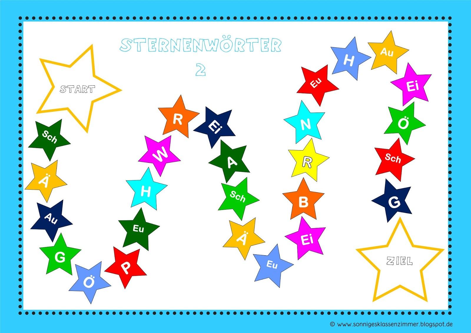 Sonniges Klassenzimmer: Sternenwu00f6rterjagd