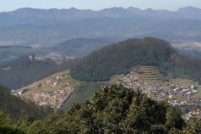 Doddabetta is the highest mountain in the Nilgiri Hills at 2,637 metres.