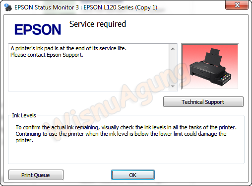 Cara Reset Waste Ink Pad Printer Epson L120 Just Share From Me