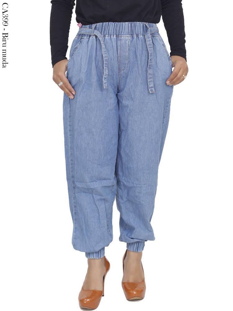 Ca399 Jogger Pants Jeans Jumbo Busana Muslim Murah