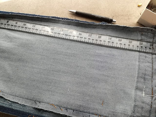 set marking for alteration on side of jeansleg craftrebella