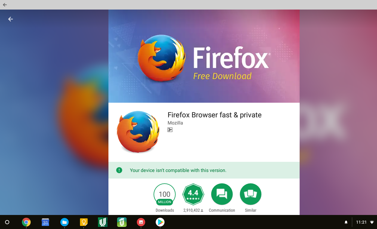 Unsolicited Question: Alternative browsers for Chrome OS Part 2