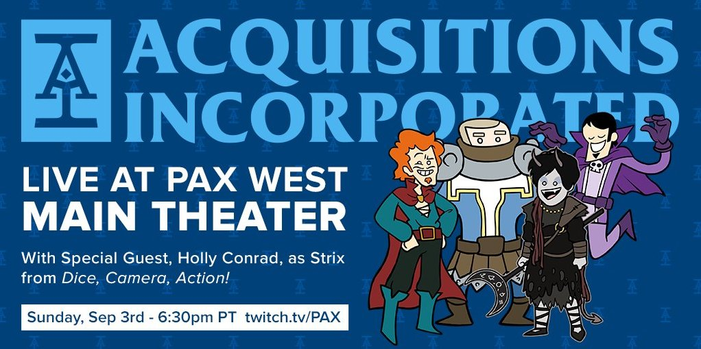 Power Score: Acquisitions, Incorporated: PAX West 2017