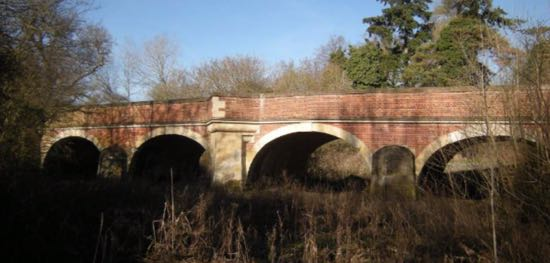 Image: Bridge to main entrance to North Mymms Park south-east elevation 2019  Image by Peter Miller