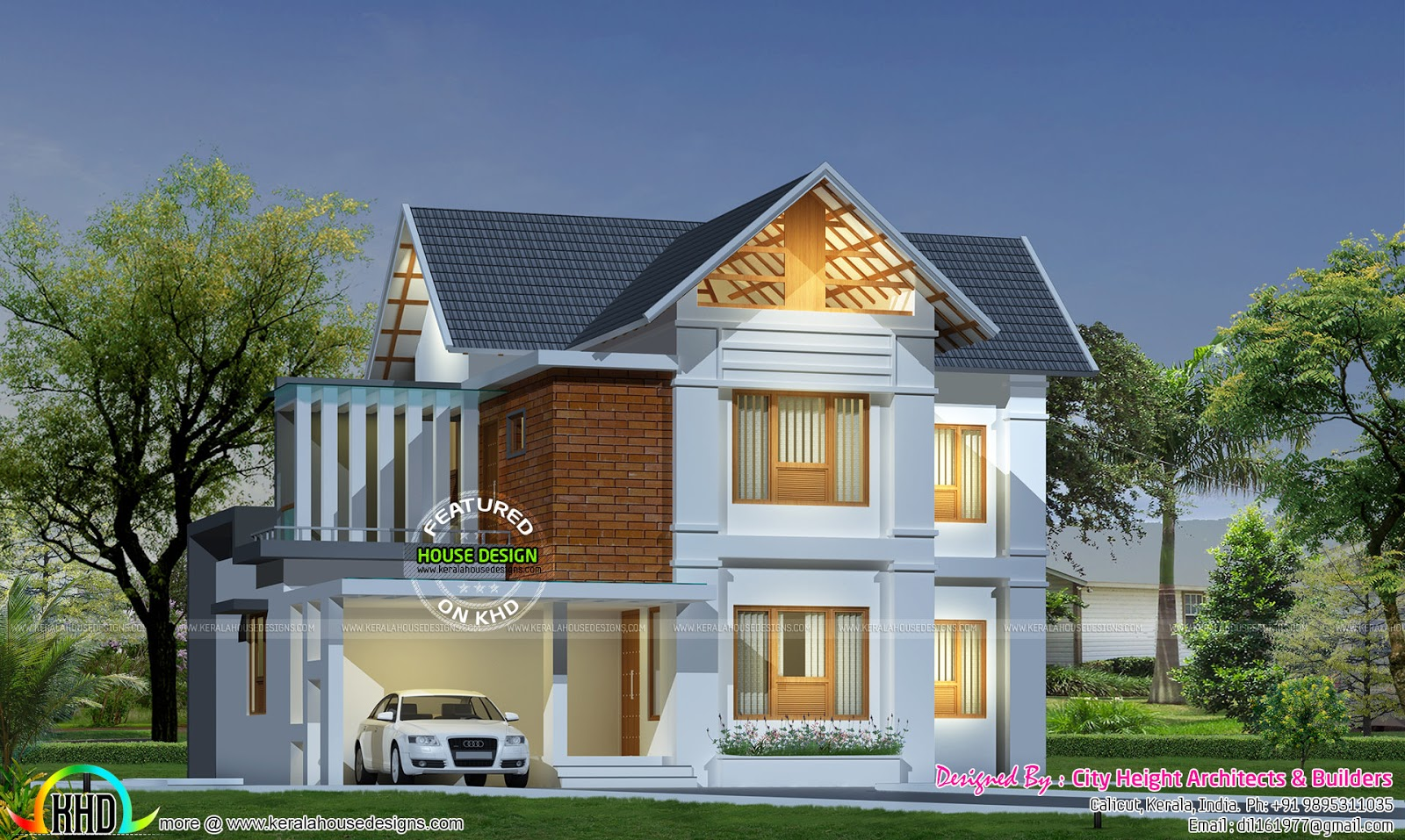 1650 square feet sloped roof plan - Kerala home design and ...