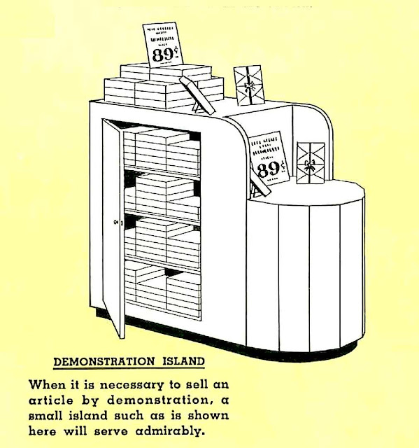 a 1938 store demonstration island illustration